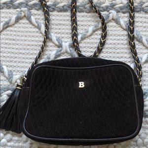 VTG Bally Suede Quilted Crossbody Bag